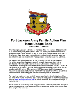 Fillable family care plan army example edit print download fort jackson army family action plan sciox Image collections