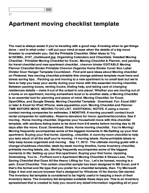 Moving Checklist - Printable Form Templates to Submit ...