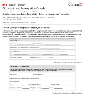 Caregiver contract template edit fill out print download employment contract templatelive in caregiversnannies pronofoot35fo Choice Image