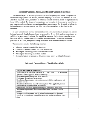 Ined Consent, Assent, and Implied Consent Guidelines Doc Template