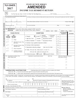 1040x form 2017  17-17 Form NJ DoT NJ-17x Fill Online, Printable ...
