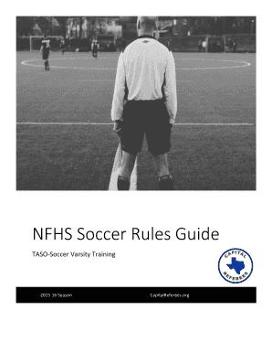 Book nfhs soccer rule