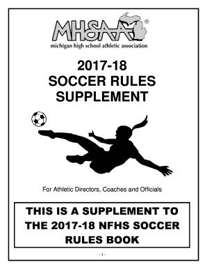 Nfhs Soccer Rule Book