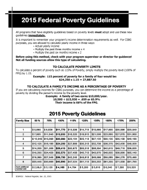 Printable how do you calculate federal poverty level ...