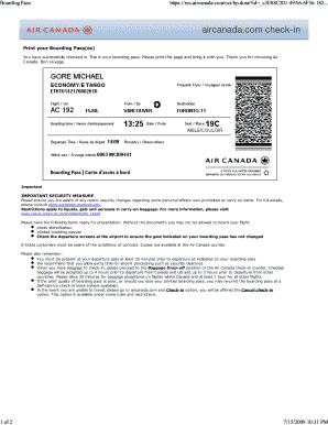 Submit air canada baggage identification PDF Form Templates Online