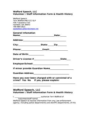 Wofford Speech, LLC Doc Template   PDFfiller