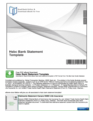 hsbc bank statement fill online printable fillable blank bank
