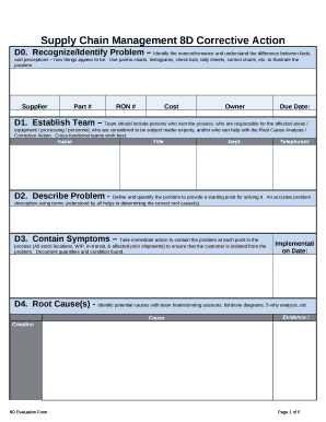 Fillable 8d corrective action report - Edit Online