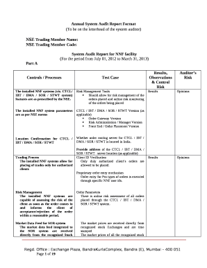 Printable audit observation report format - Edit, Fill Out