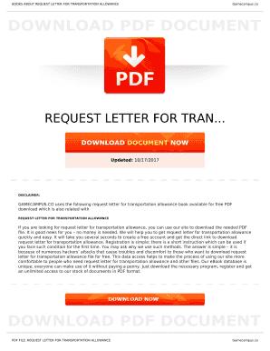 Transportation Letter Sample