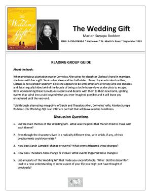 Wedding Gift List Example