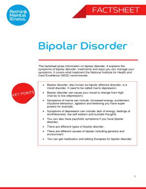 sample treatment plan for bipolar disorder pdf - Edit ...