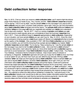 debt settlement letter template