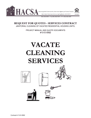 contracts for house cleaning services