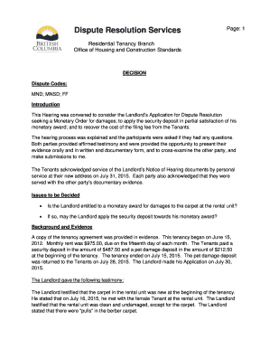 sample letter to landlord to dispute damages claimed fill out