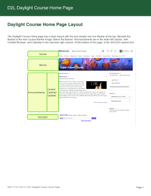D2l Daylight Course Home Page Fill Online Printable Fillable