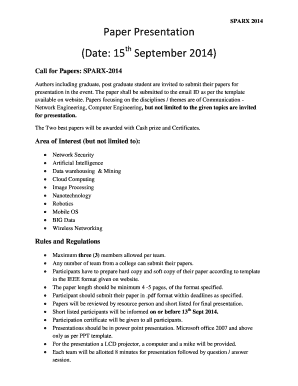 paper presentation templates free download - fillable & printable, Presentation templates
