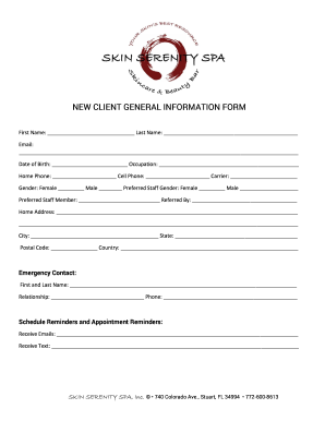 new client general information form fill online printable fillable