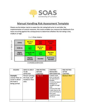 Manual handling risk assessment template free forms document manual handling risk assessment template free maxwellsz