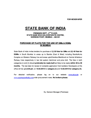 Editable flat possession letter from builder format samples to for newspaper state bank of india premises dept9th floorstate bank bhavan corporate centrenariman pointmumbai 400 021 purchase of flats for the use of gms spiritdancerdesigns Images