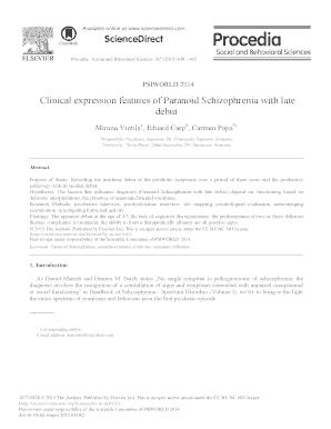 Printable paranoid schizophrenia case study pdf Templates to Submit