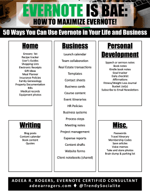 50 Ways You Can Use Evernote In Your Life And Business