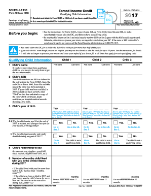 earned income credit worksheet 2017 form