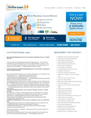 List Of Direct Lenders For Installment Loans