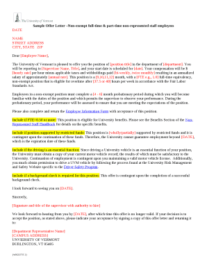 424559947 Offer Letter Template Non Exempt on employer job, for temp position, temporary position, executive job, simple employee, decline job, counter proposal, business purchase, executive employment, employee job,