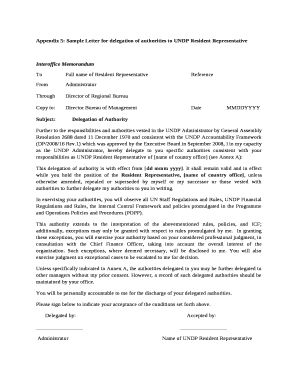 Sample letter of authorization to represent editable fillable sample letter of authorization to represent appendix 5 sample letter for delegation of authorities to undp resident representative thecheapjerseys Images