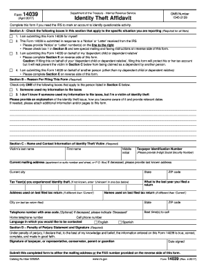 irs tax form 14039 2017-2018