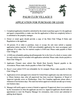 Fillable Online West Palm Beach Condo Association Palm Club 1west Palm Fax Email Print Pdffiller