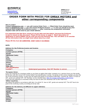ORDER WITH PRICES FOR EMRAX MOTORS and other corresponding