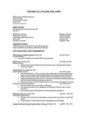 Fillable Online MECHELLE J Fax Email Print - PDFfiller