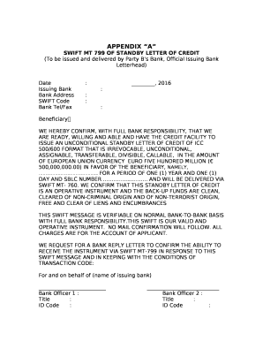 Bank confirmation letter format edit fill print download bank confirmation letter format swift mt 799 of standby letter of credit thecheapjerseys Gallery