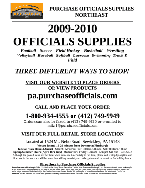 f04291a71 Fillable Online PURCHASE OFFICIALS SUPPLIES NORTHEAST Fax Email Print -  PDFfiller
