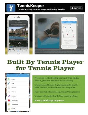 Complete Printable tennis stat app Samples Online in PDF | tennis