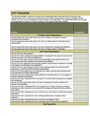 Test Case Review Checklist Template