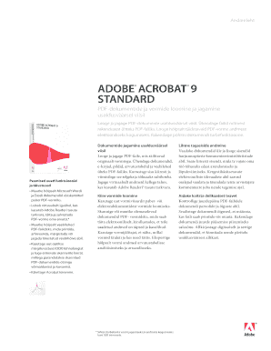 Editable adobe acrobat 9 standard Form Samples Online in PDF