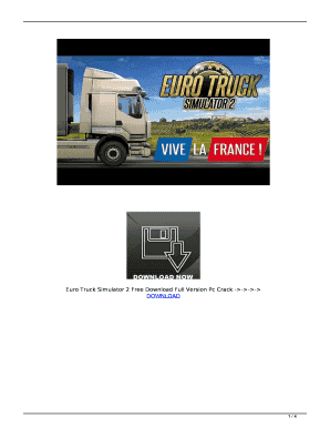 Fillable Online Euro Truck Simulator 2 Free Download Full