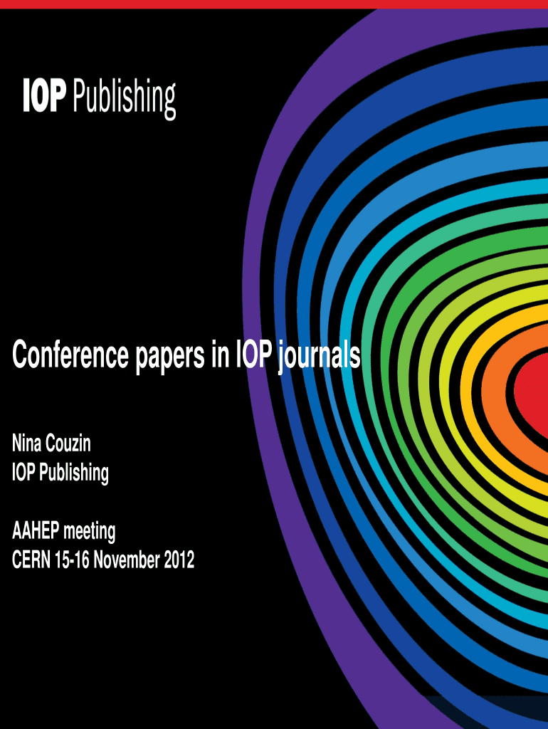 Conference papers in IOP journals Fill Online, Printable