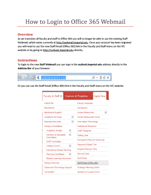 Submit webmail login page PDF Forms and Document Samples