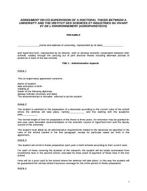 Doctoral dissertation agreement form gatech