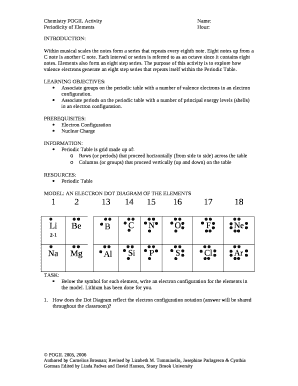 chemistry unit 1 periodic table revision - multiple choice