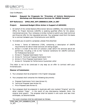 Subject:Request for Proposals for Provision of Vehicle