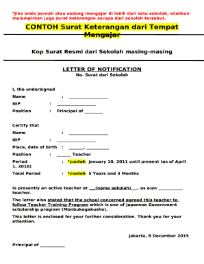 Fillable Online Kop Surat Resmi Dari Sekolah Masing Masing Fax Email