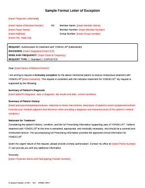 Sample at Letter of Medical Necessity - Janssen CarePath template