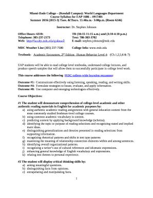 Miami-Dade College (Kendall Campus): World Languages Department Doc