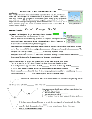 the skate park intro to energy and work Doc Template ...