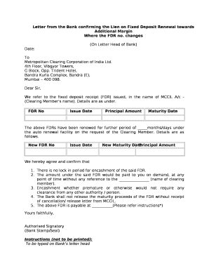Letter from the bank confirming the lien on fixed deposit renewal ltd thecheapjerseys Choice Image